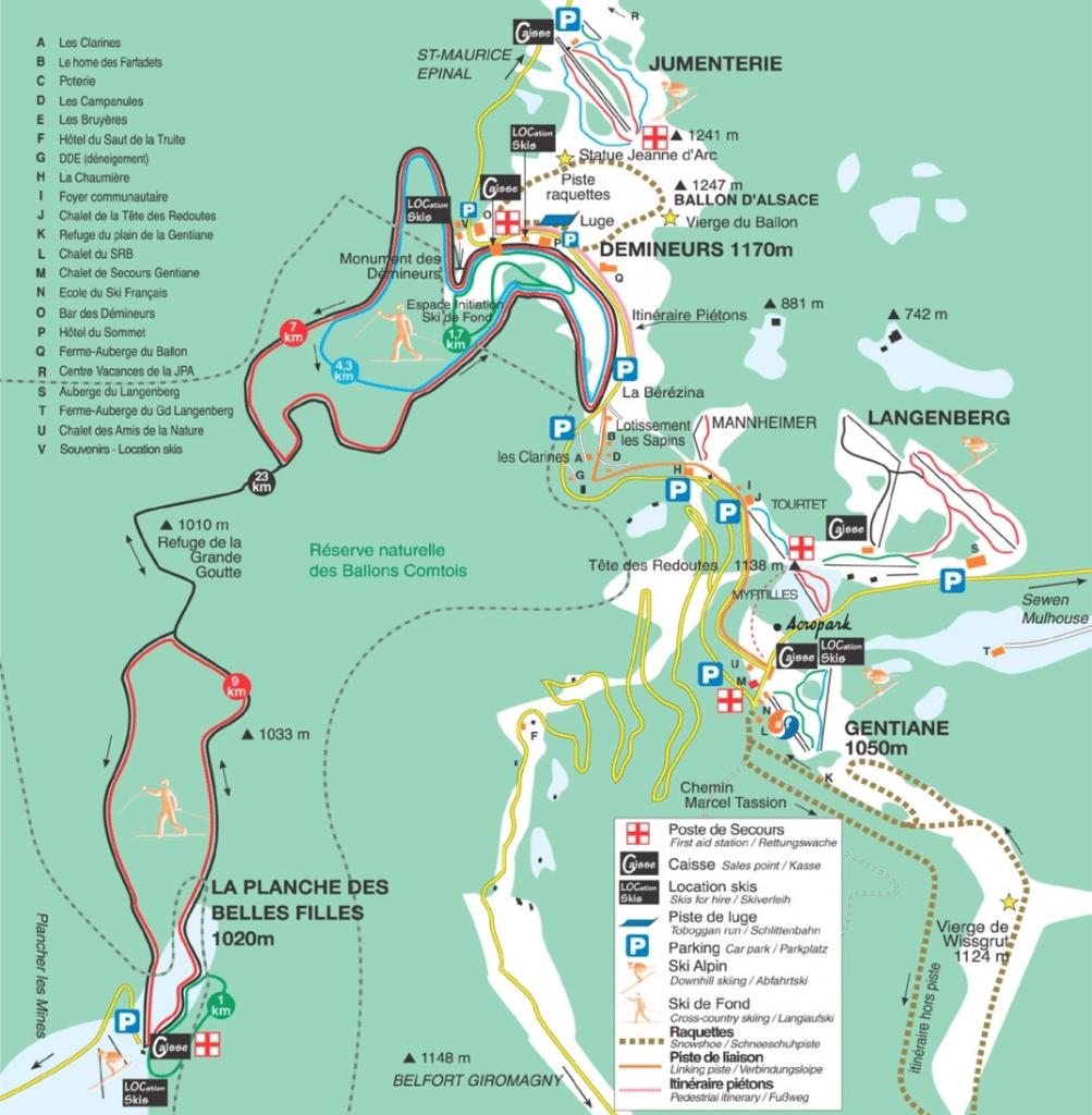 Ballon d'Alsace - Plan des pistes de ski