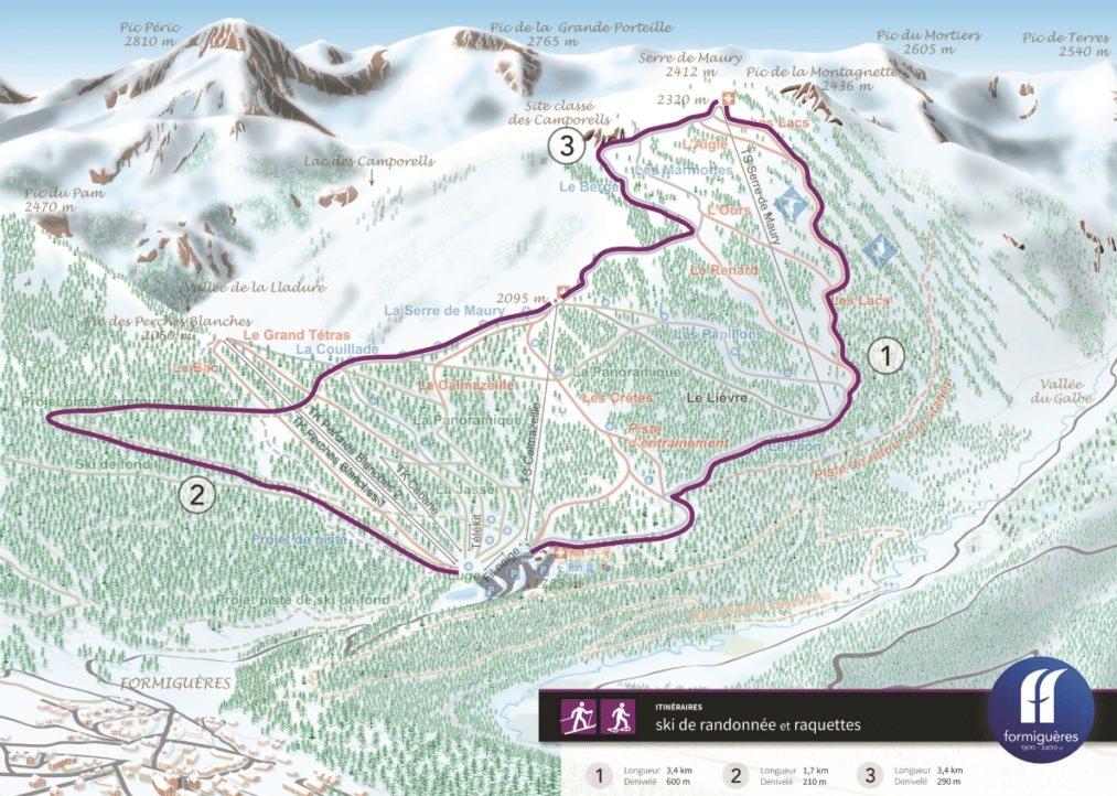 Formiguères - Pistes de ski de randonnée (et raquettes)