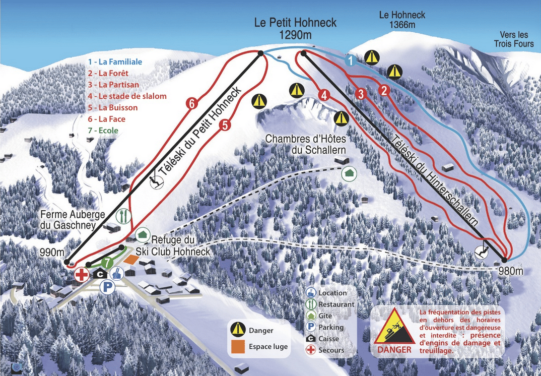 Gaschney - Plan des pistes de ski