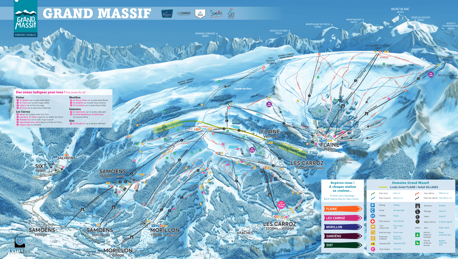 Grand Massif - Plan des pistes de ski