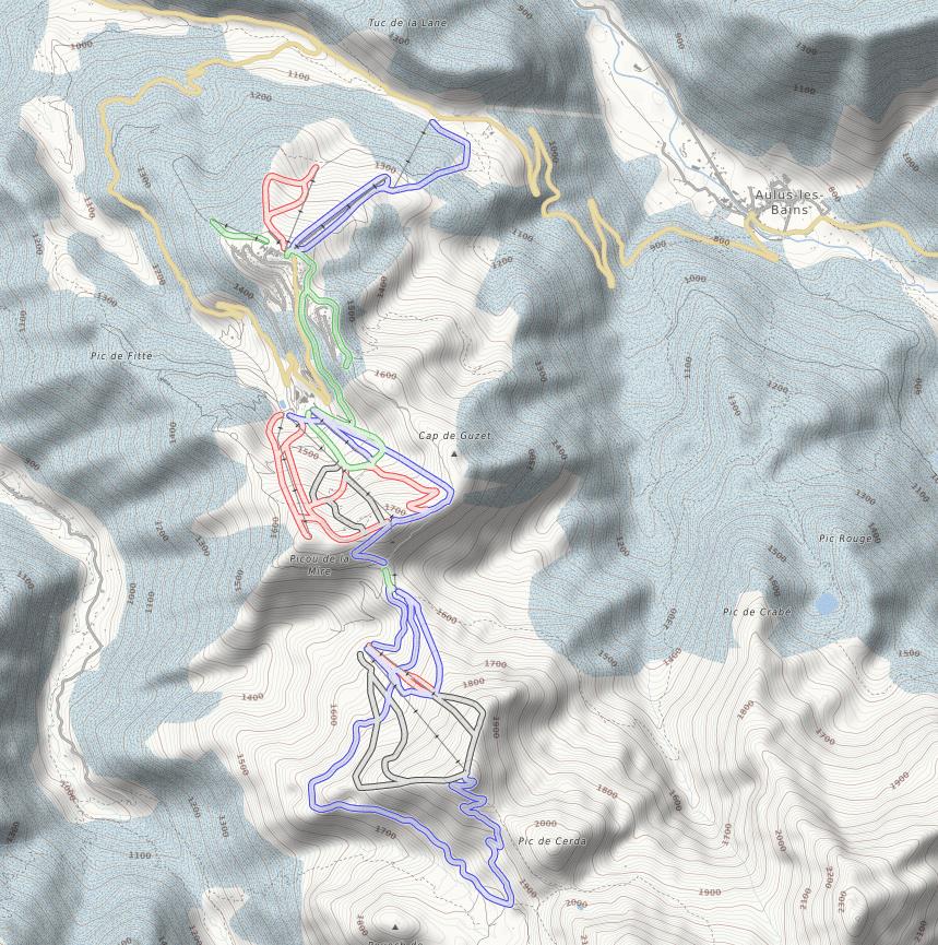 Guzet - Plan du village et des pistes