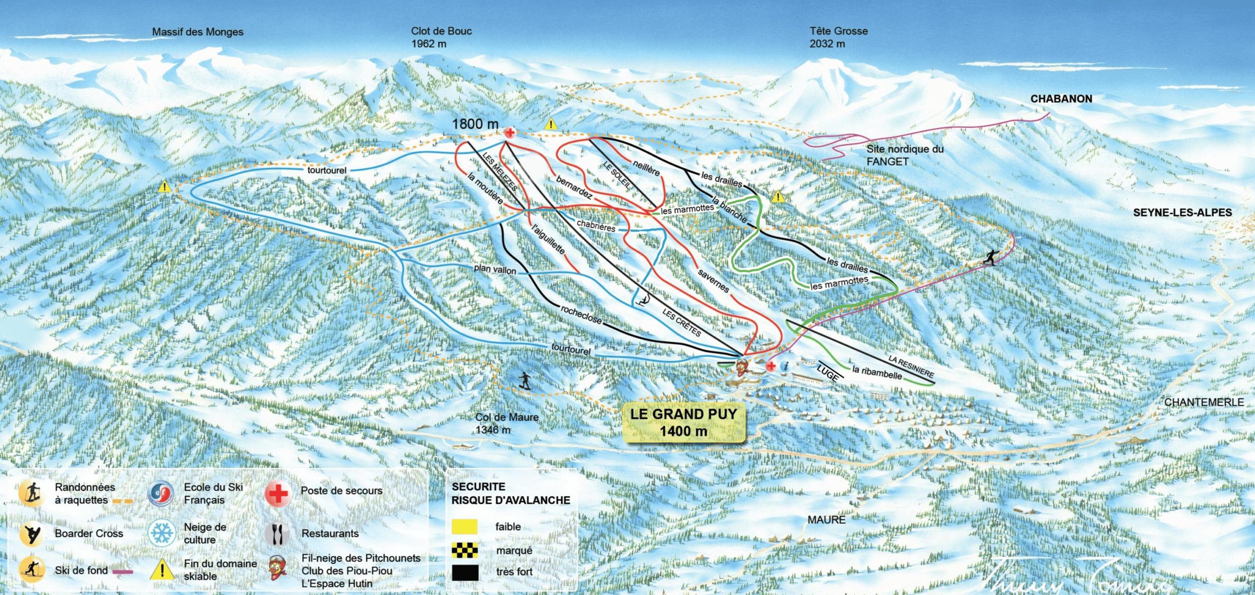 La Grand Puy - Plan des pistes de ski