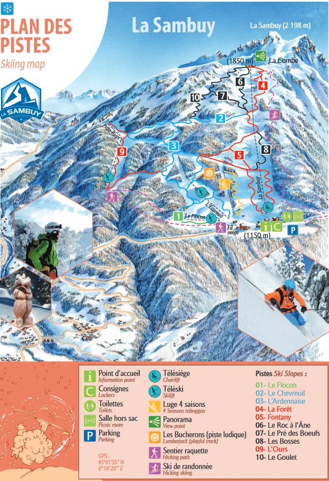 La Sambuy - Plan des pistes de ski