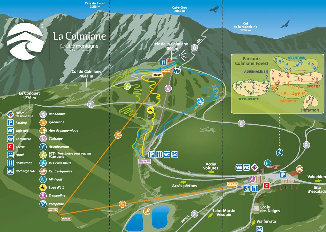 La colmiane - Plan du domaine en été