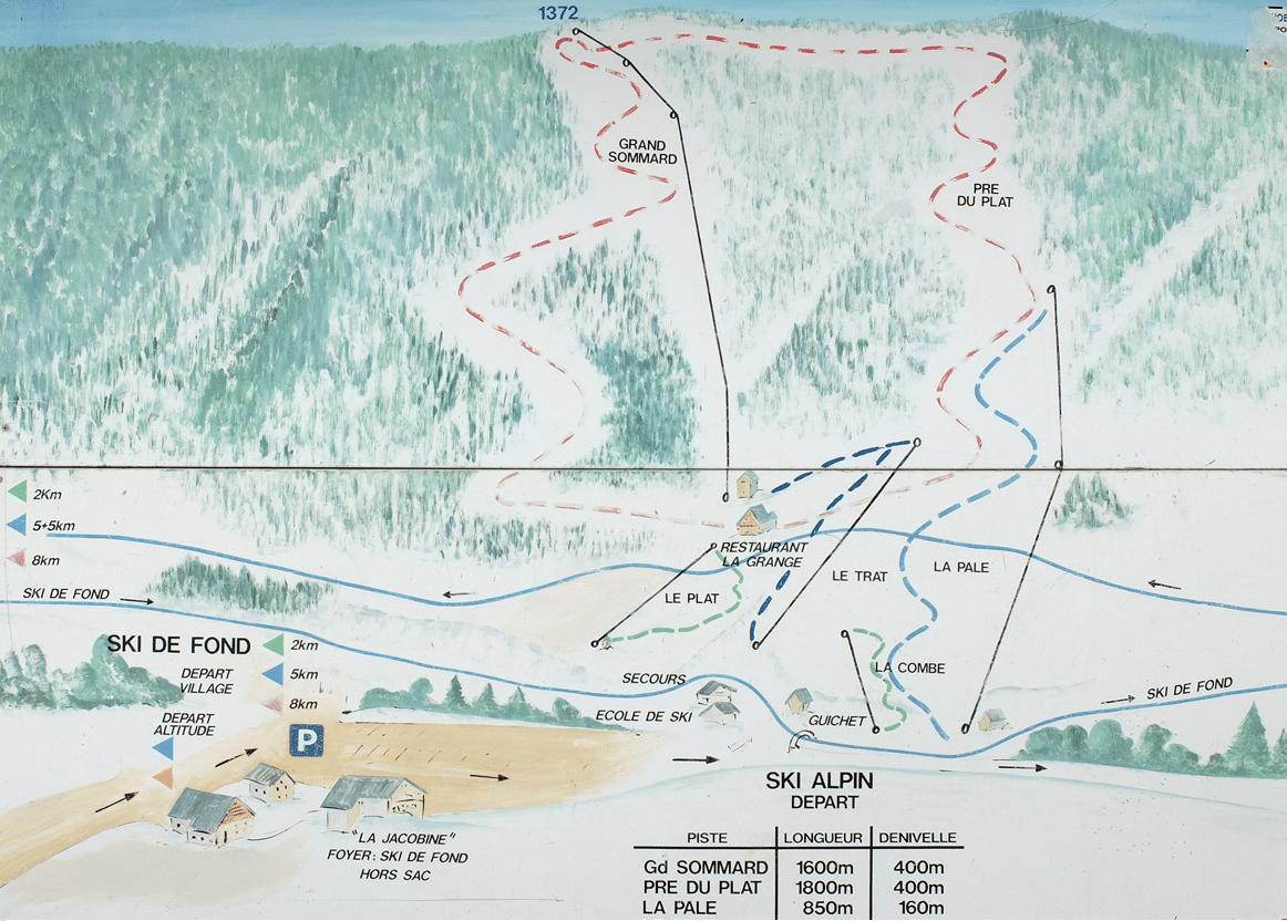 La sappey en chartreuse - Plan des pistes de ski
