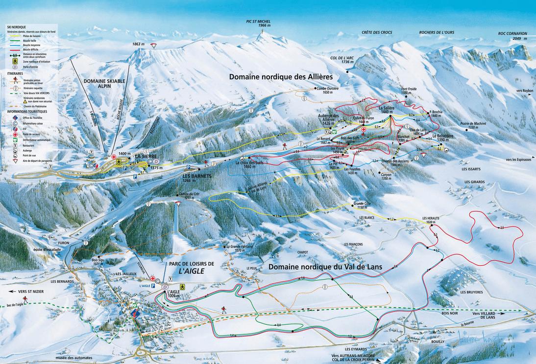 Lans en Vercors - Domaine nordique du Val de Lans