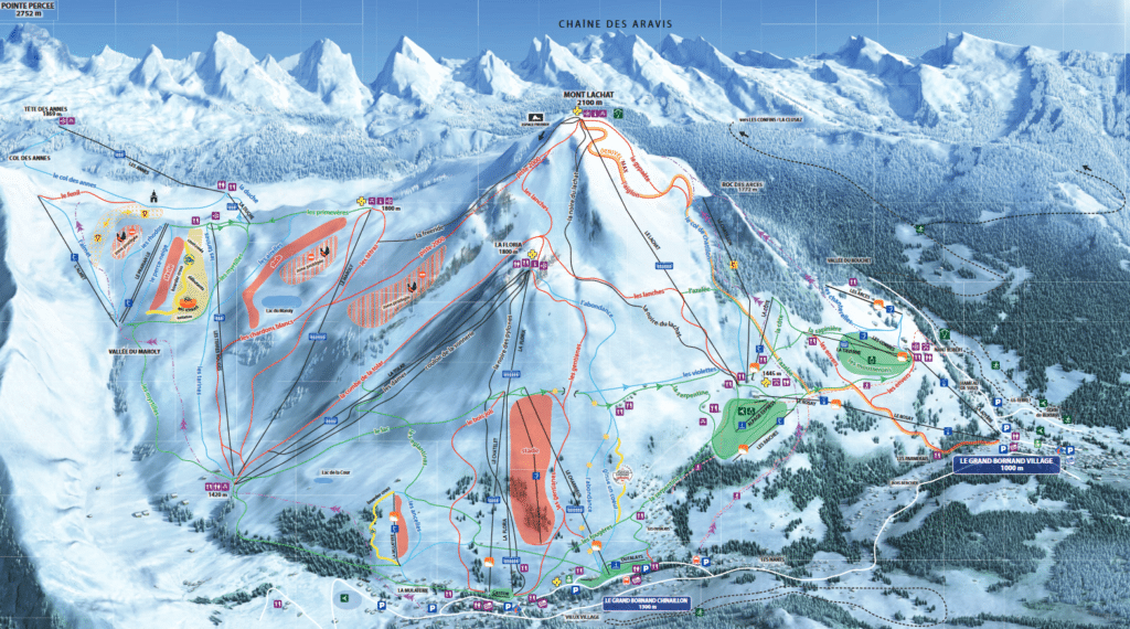 Le Grand Bornand - Plan des pistes de ski