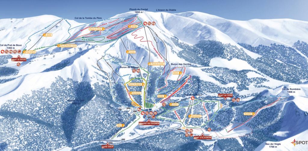 Le lioran - Plan des pistes de ski