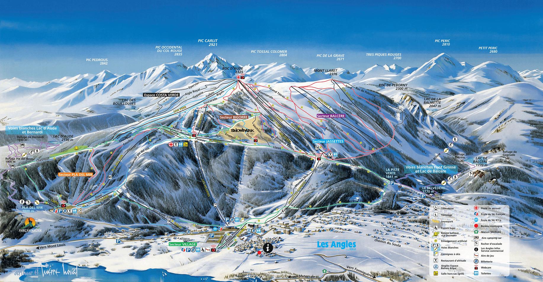 Les Angles - Domaine skiable