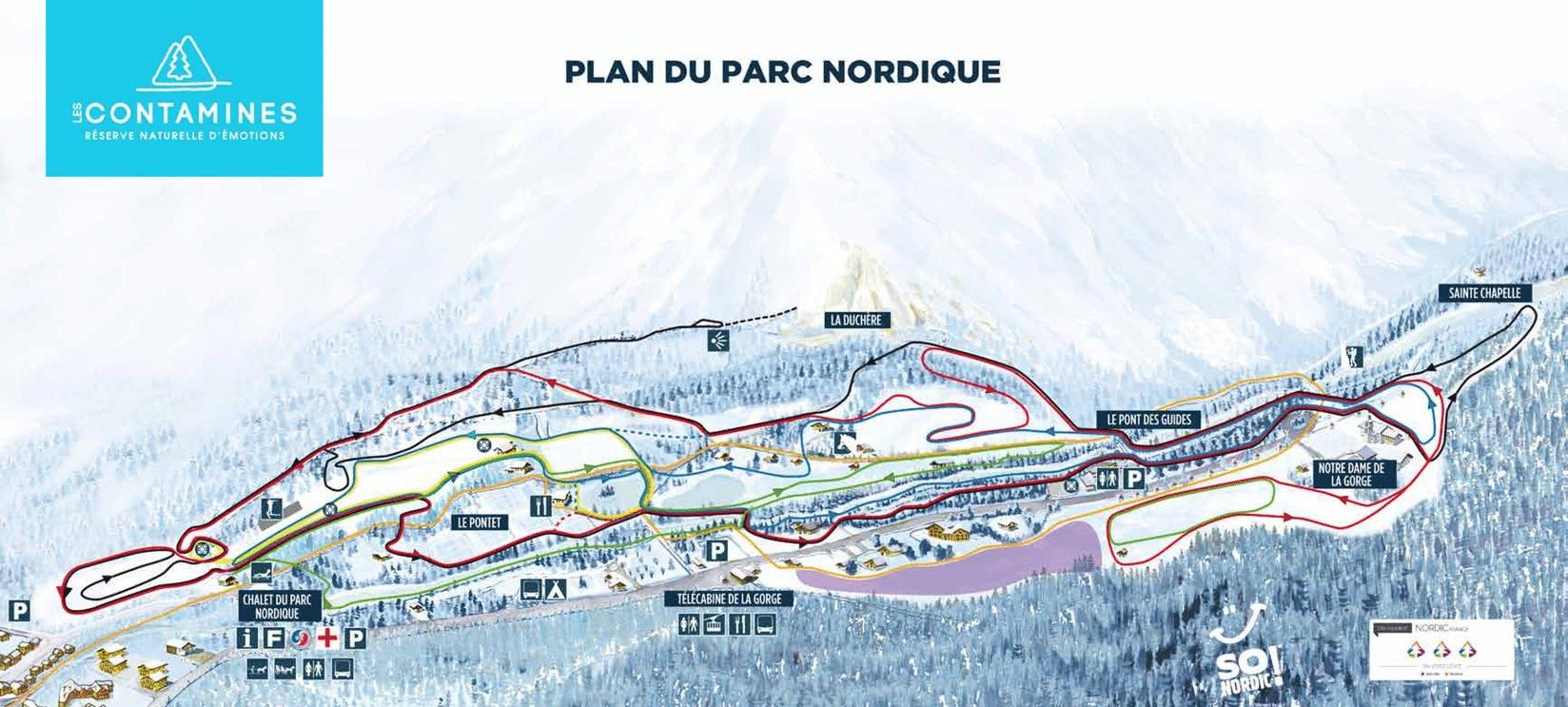 Les Contamines - Plan du domaine nordique