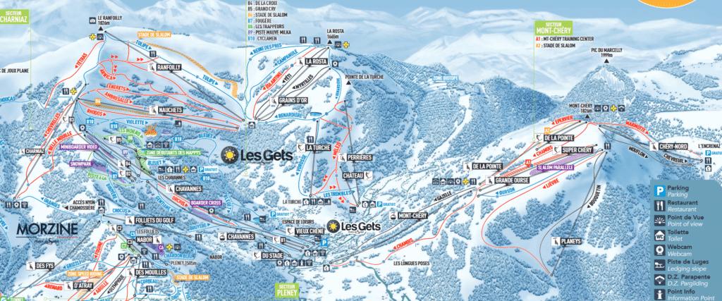 Les Gets - plan des pistes de ski
