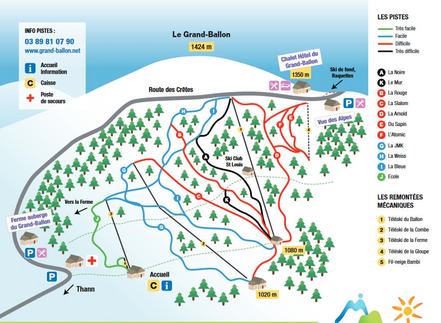 Markstein - plan des pistes de ski