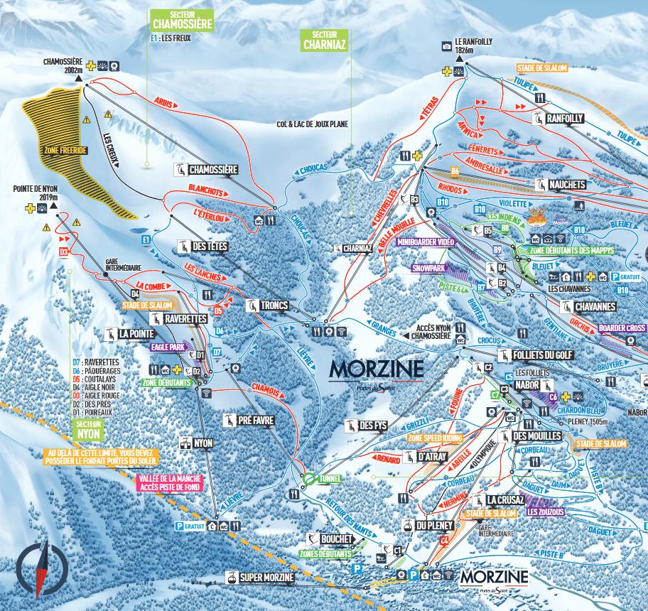 Morzine - Plan des pistes de ski