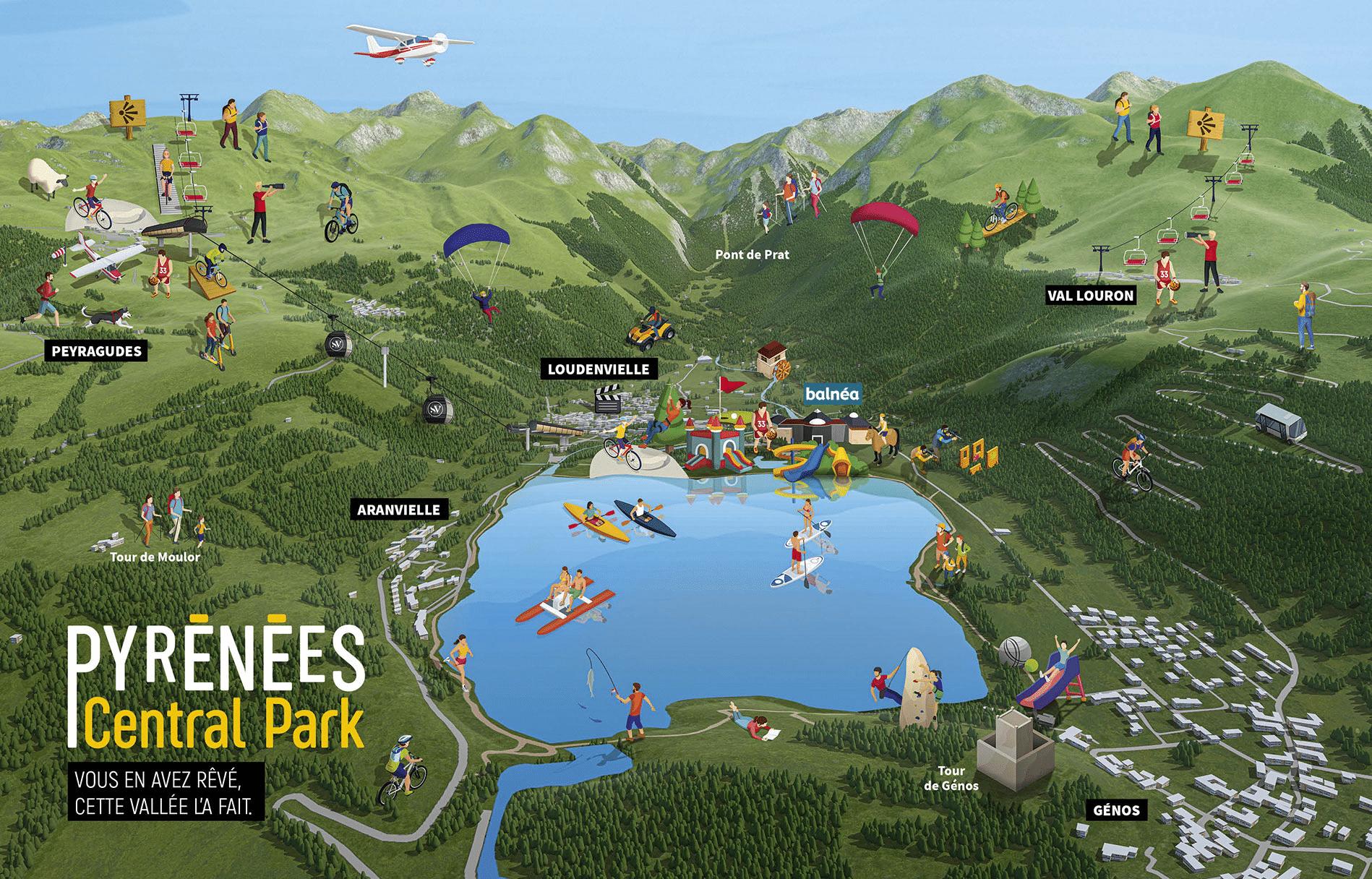 Peyragudes - Plan de la vallée en été