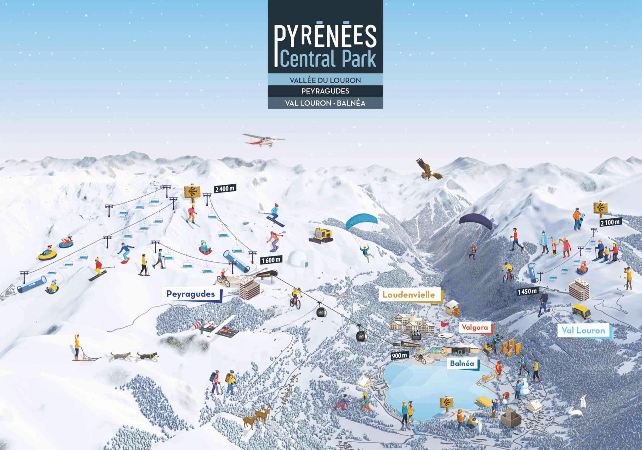 Peyragudes - Plan de la vallée en hiver