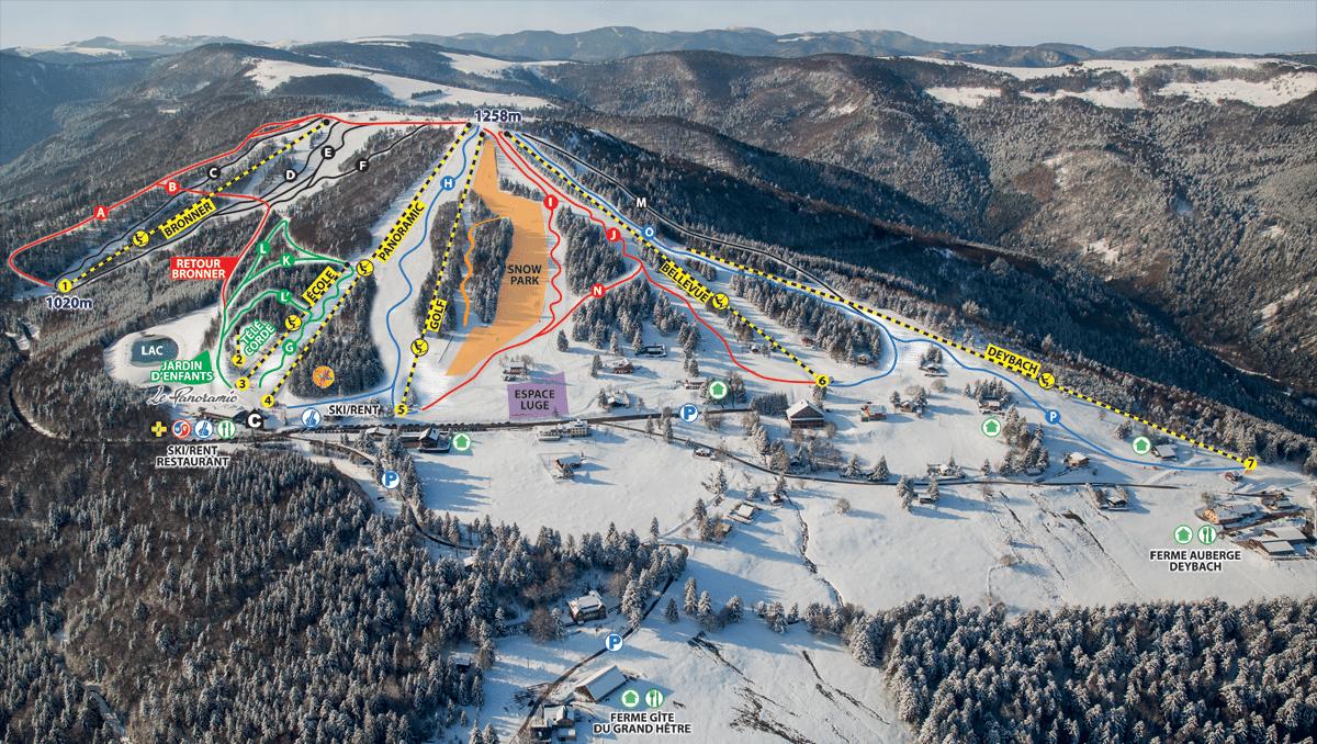 Schnepfenried - plan des pistes de ski