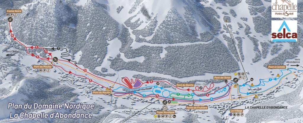 Abondance Chatel - Plan des pistes de ski de fond