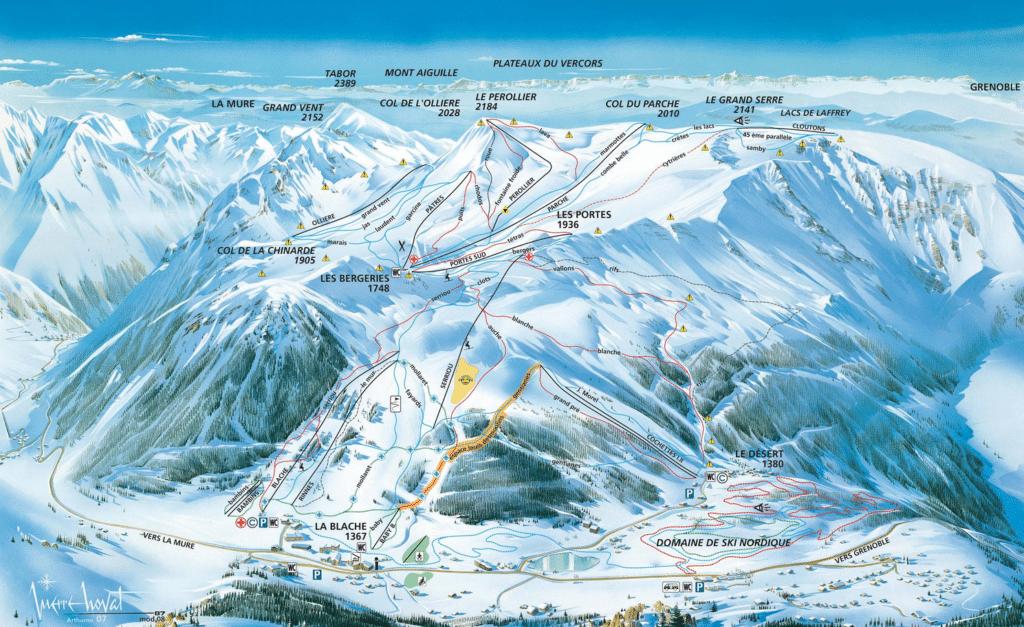 alpe du grand serre plan des pistes