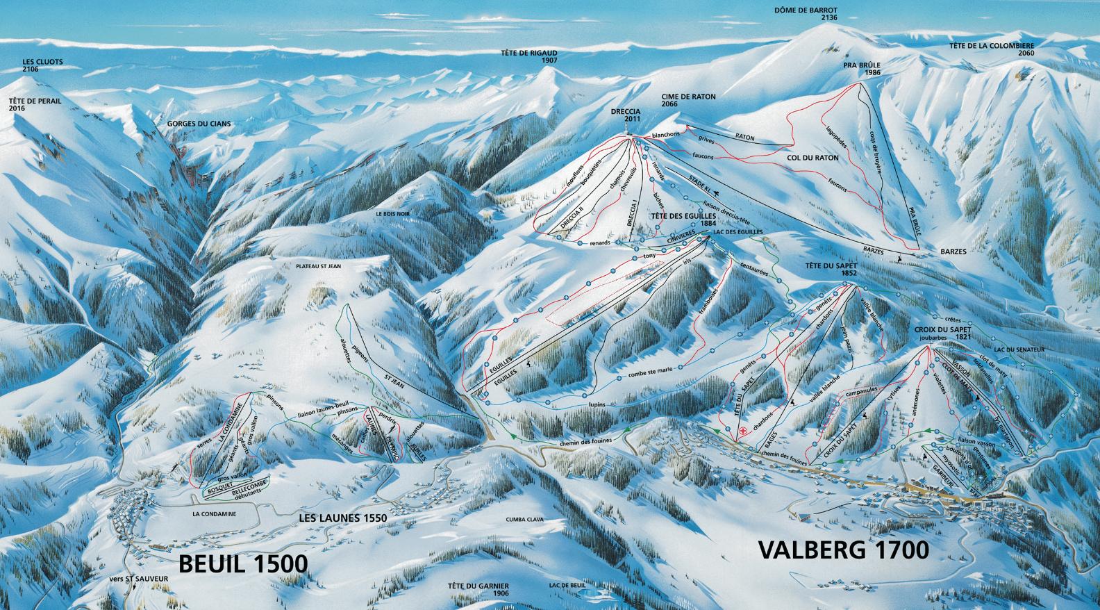 beuil valberg plan des piste
