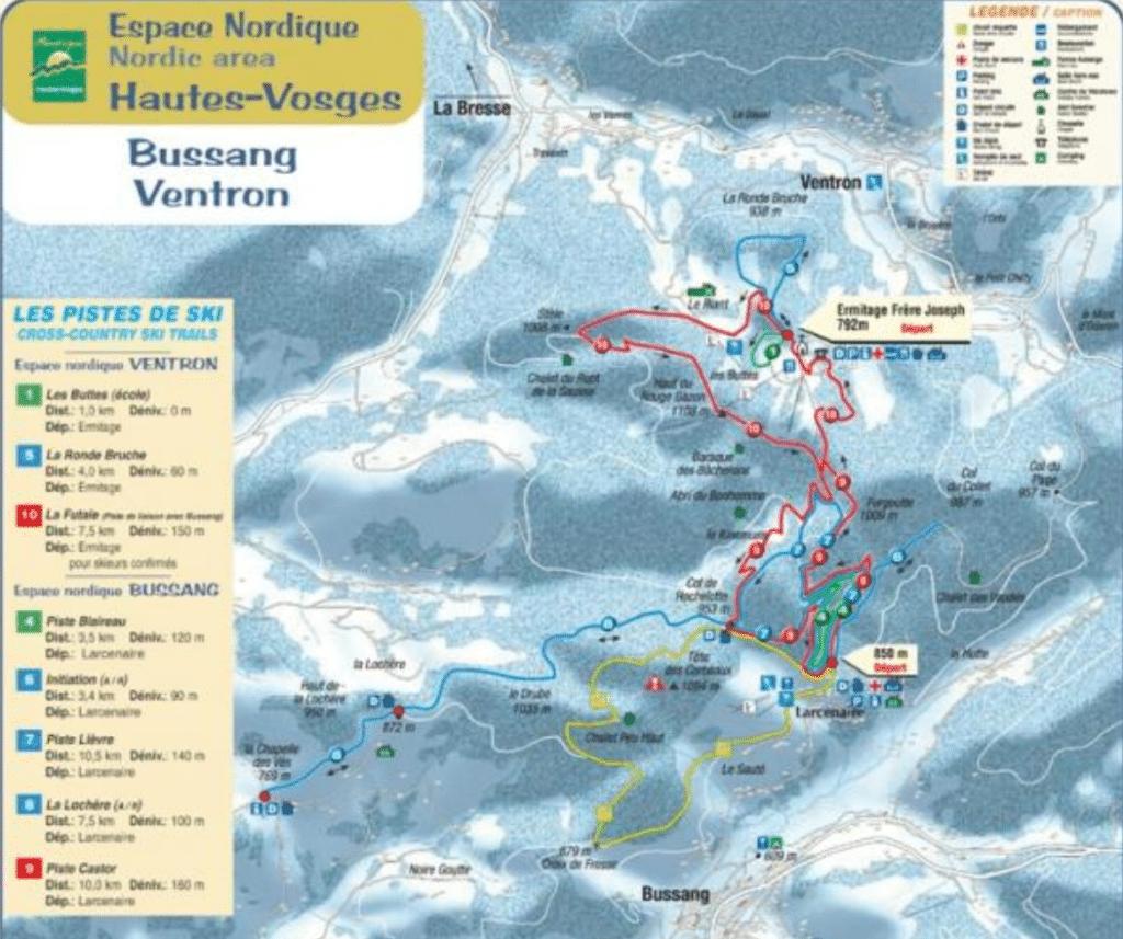 bussang larcenaire _ plan des ski de fond