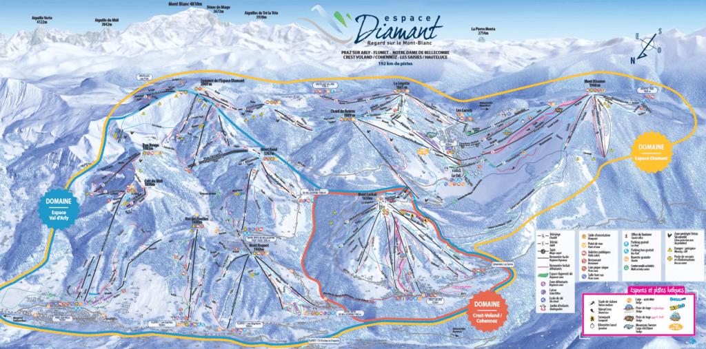 Espace Diamant - Plan des pistes de ski