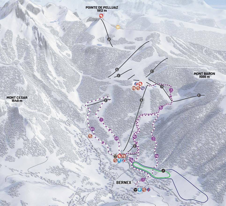 plan ski de fond bernex