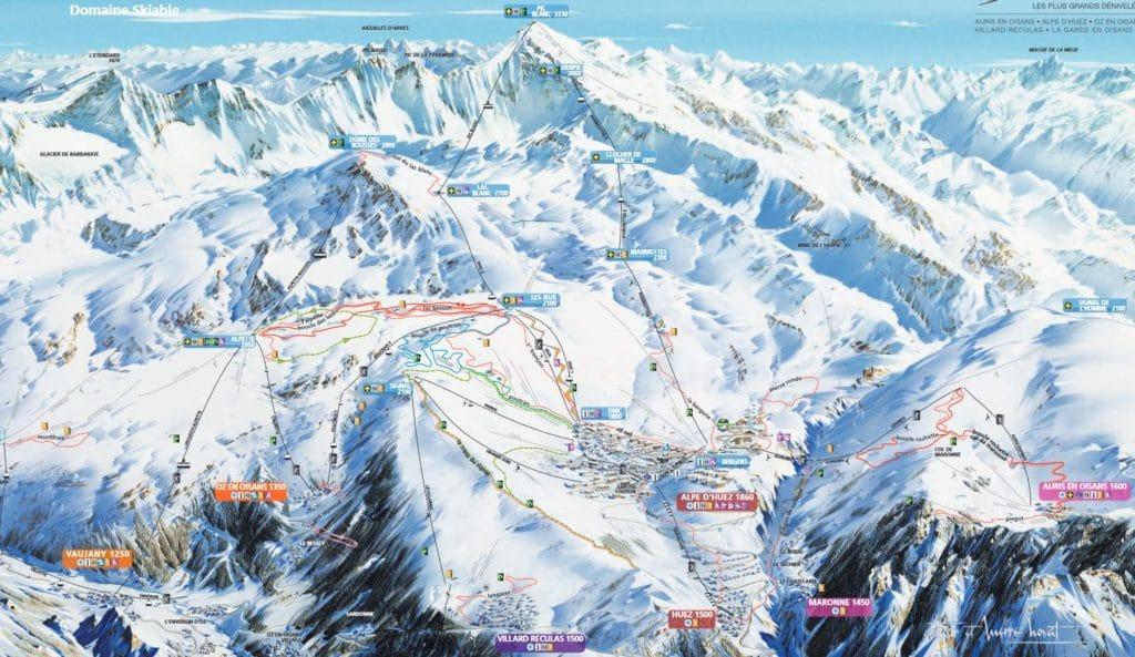 plan ski de fond alpe huez