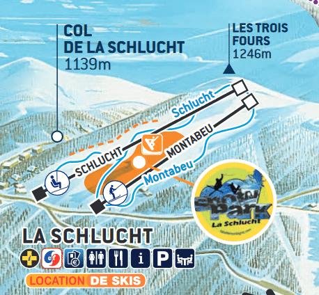 schlucht - Plan des pistes de ski