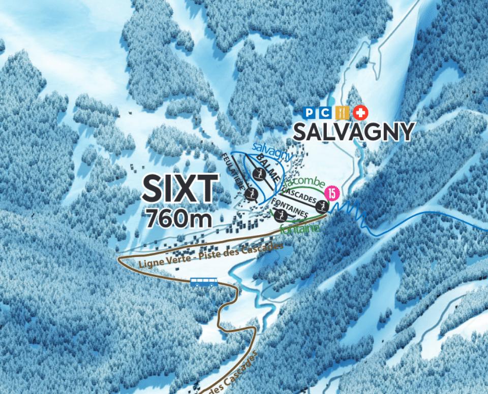 Sixt-Fer-a-Cheval - Plan des pistes