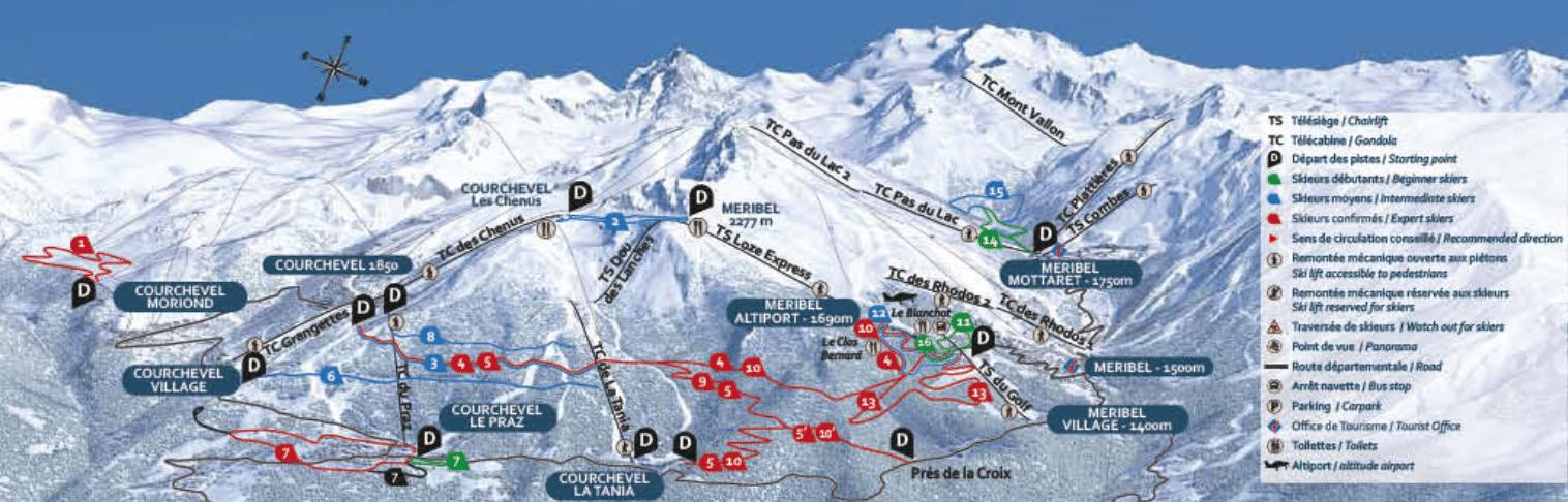 ski de fond les trois vallees