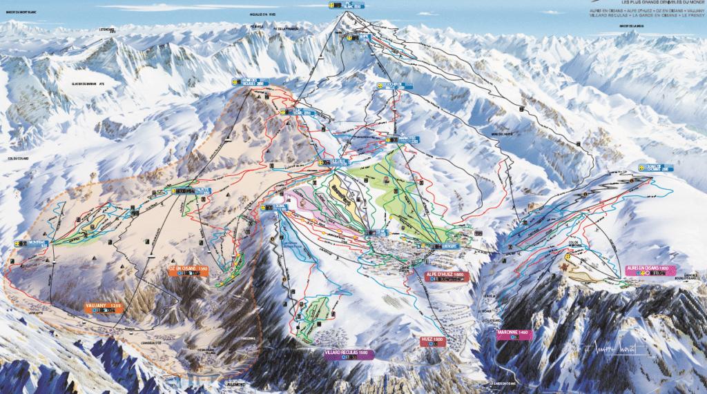 Alpe Huez - Plan du domaine skiable