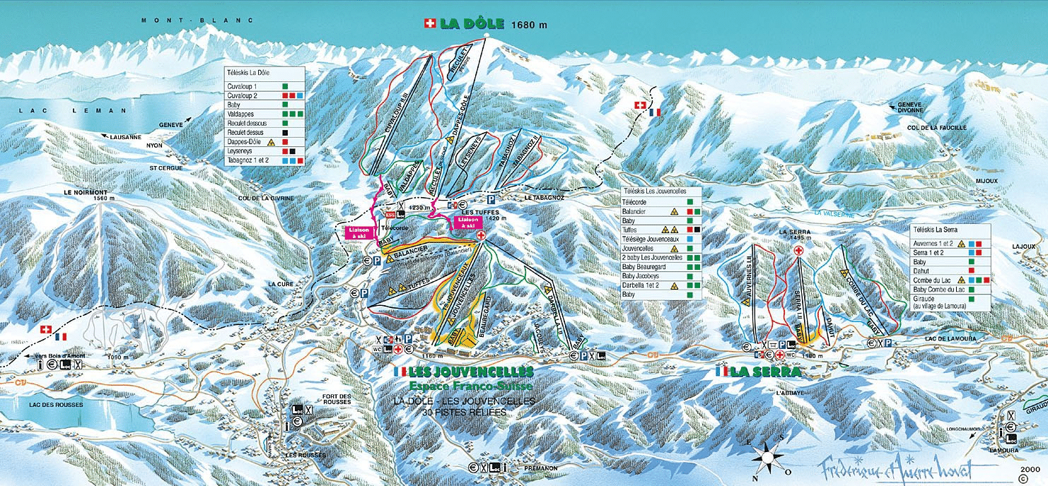 Les Rousses - Plan du domaine skiable