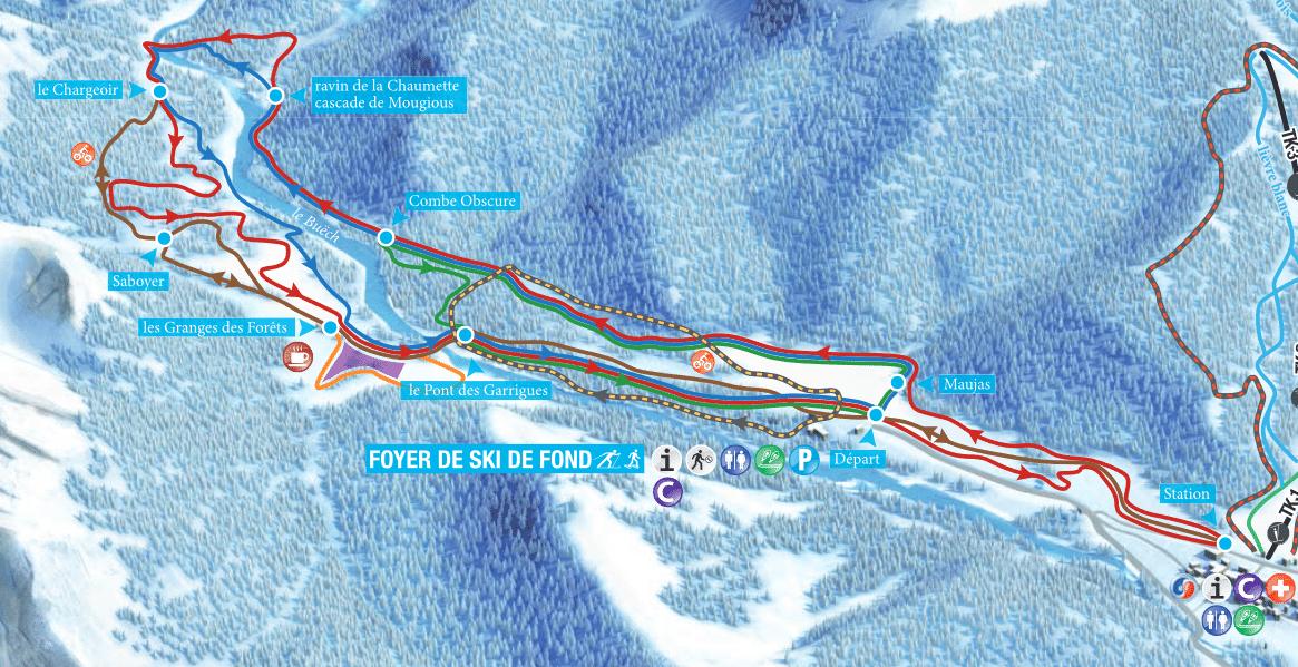 Lus La Jarjatte - Plan du domaine nordique