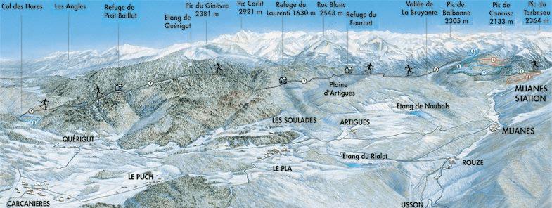 Mijanes - Plan ski de fond