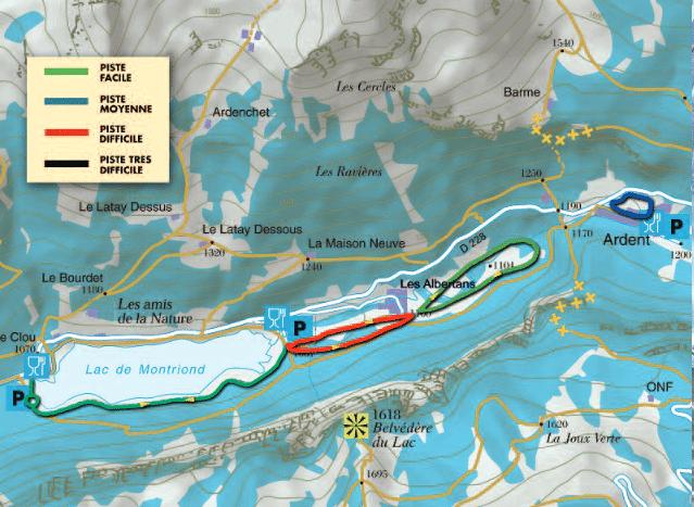 Montriond et Morzine - Plan des pistes de ski de fond