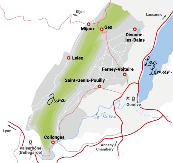 Monts Jura - Carte