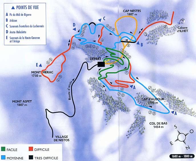 Nistos - Plan du domaine nordique