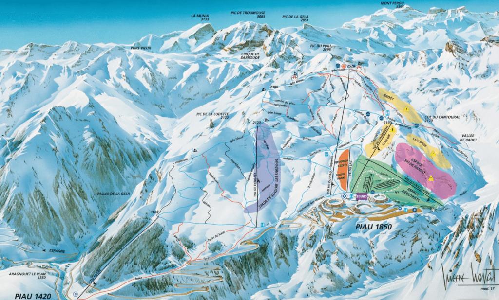 Piau Engaly - Plan des pistes de ski