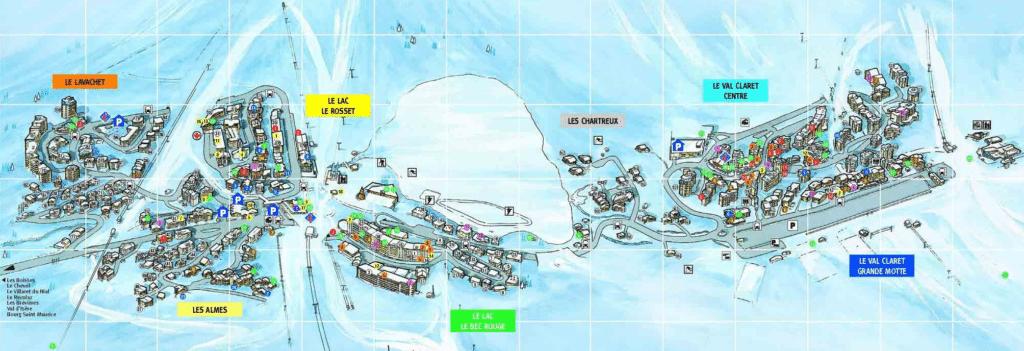 Plan des villages de Tignes