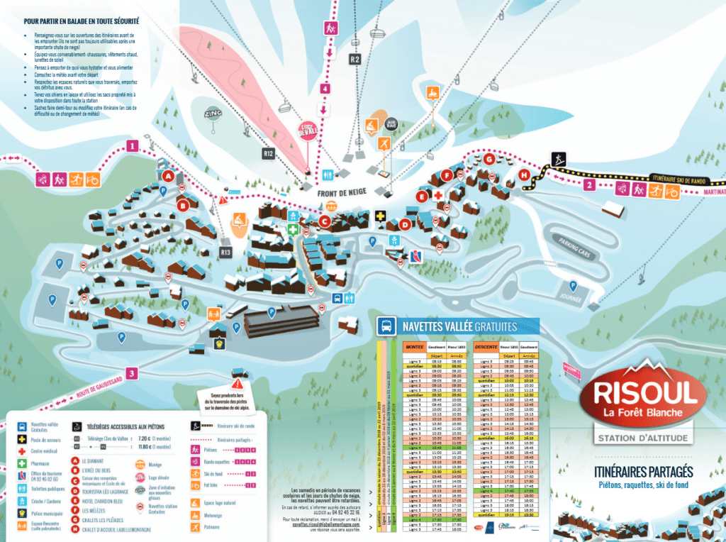 Risoul - Carte du village