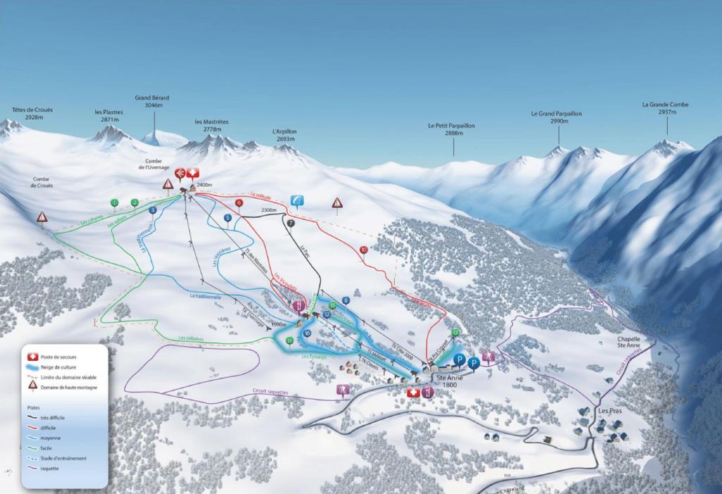 Saint Anne la Condamine - Plan du domaine skiable