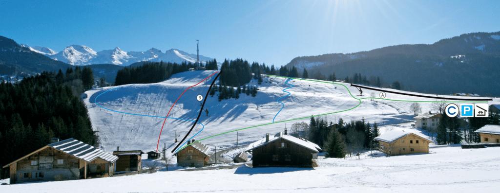 Saint Jean de Sixt - Plan du domaine skiable