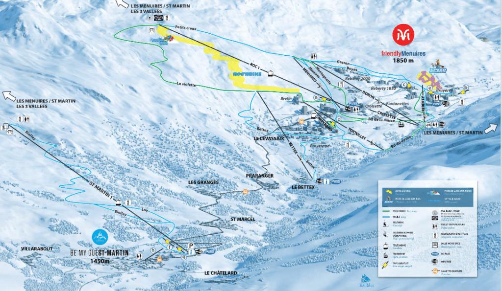 Saint Martin de Belleville - Piste de ski facile