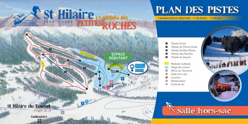 Saint hilaire du touvet - plan des pistes de ski