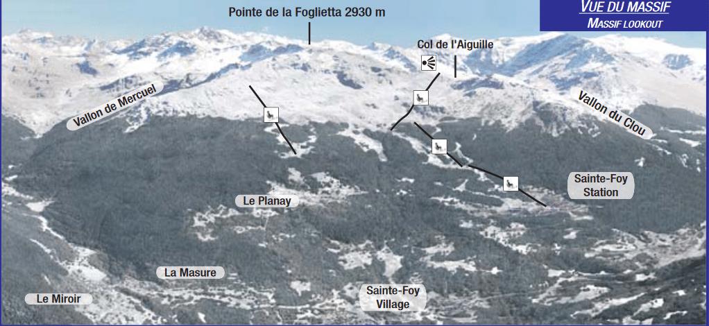 Sainte Foy la Tarentaise - Plan du massif