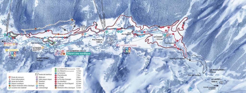 Serre Chevalier - Plan du domaine nordique