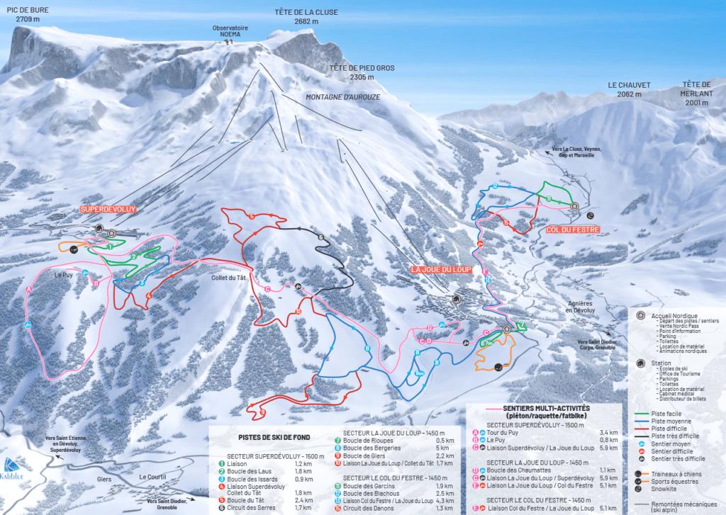 Superdevoluy - Joue du Loup - Domaine nordique (ski de fond)