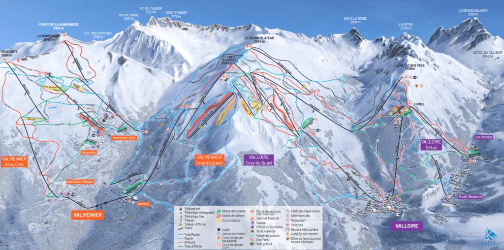 Valloire Valmeinier - Plan des pistes de ski