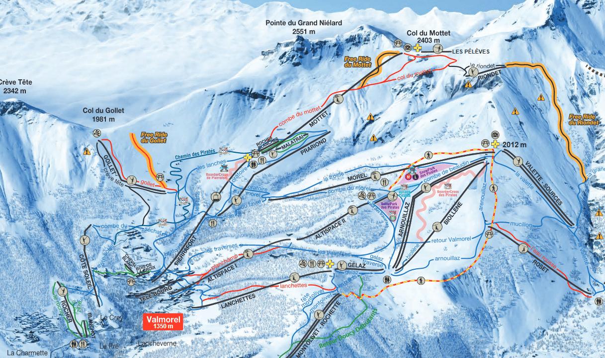 Valmorel - Plan des pistes de ski