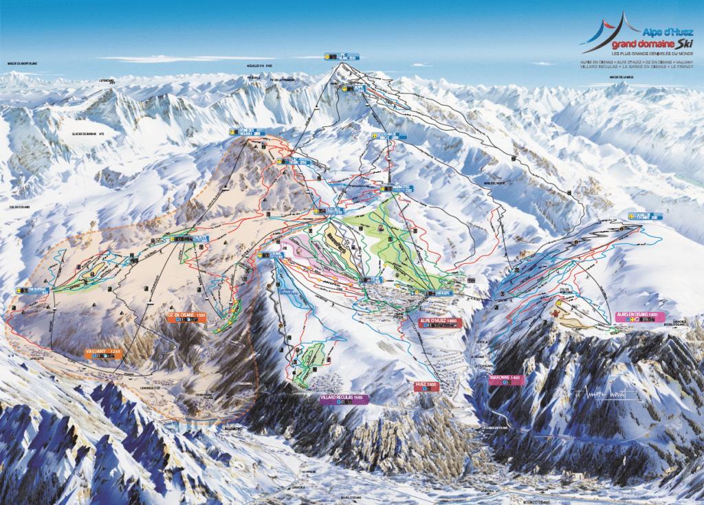 Vaujany - Plan des pistes de ski